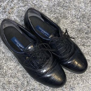 Easy Spirit Anti Gravity Black Leather Shoes SZ 8